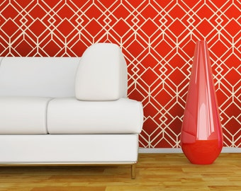 DECO LATTICE Wallpaper Stencil / Reusable Stencils / DIY / Home Decor / Interiors / Feature Wall / Wallpaper alternative / Motif