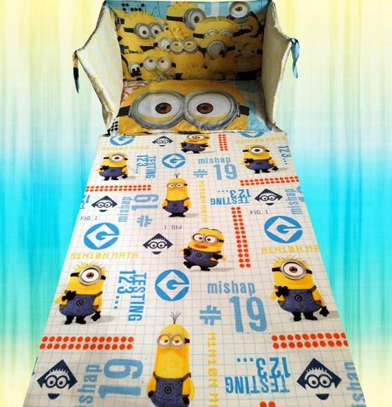despicable me 2 minion minions movie cot crib bedding set