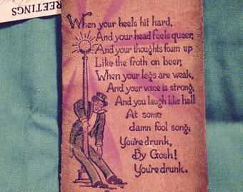 Vintage Leather Souvenir Card