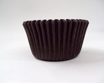32 Brown Baking Cups