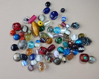 XL Glass Beads - Mixed Bag of 25+