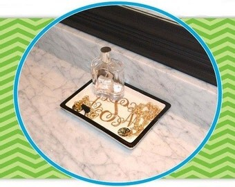 Monogrammed/Personalized Rectangle Catch All Tray
