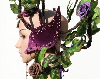 Floral Rose Leaf Head Dress
