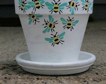 Bee Collector (Hand Painted Flower Pot)