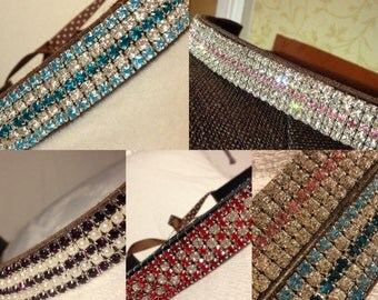 Custom browbands, any size, any colour, SUPER BLINGY!