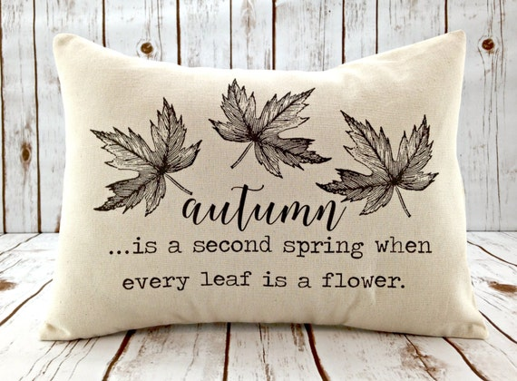 Fall Pillow - Leaf Pillow - Fall Decor - Decorative Throw Pillow Cover