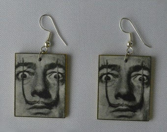 Earrings with Salvadore Dali Picture