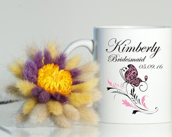 Personalized Bridesmaid mug-Bridesmaid gift-Bridesmaid gift ideas-Bridesmaid coffee mug-Wedding mug-Wedding favor-Gift for bridesmaid