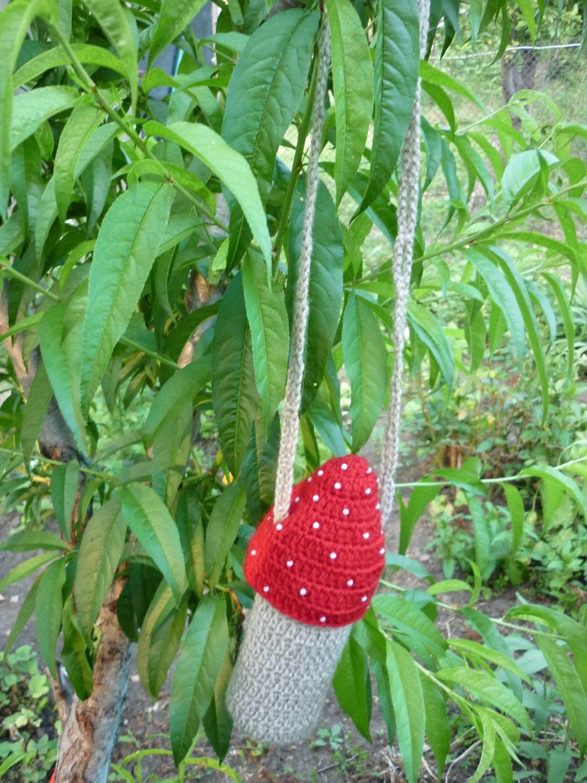 Crochet pattern mushroom water bottle carrier bag tote zoom bankloansurffo Choice Image