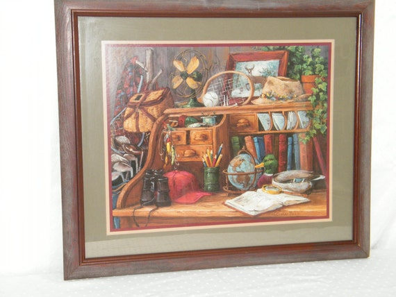 home interiors gifts wooden framed antique desk by