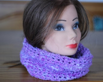 Women's Handmade Purple Infinity Scarf