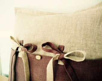 Linen Pillow cover/ cushion cover/ Linen decorative pillow