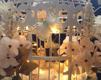This is The Place Where Fairies Are Born', Beautiful Faires Cage,  Fairy In A Cage, Table Wedding Centrepiece,