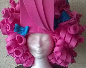 Pink Curly Foam Wig/Halloween/Theme Party/Cosplay/Drag Queen