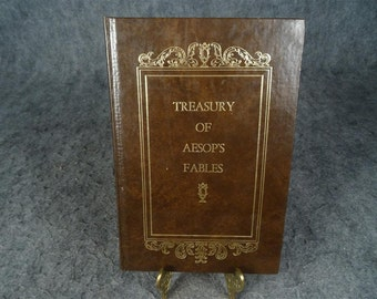 Treasury Of Aesop's Fables Illustrated By Thomas Bewick Hardcover 1973