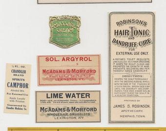 Antique Drug Store Labels-L7