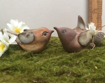 Vintage Mid Century Tremar UK Stoneware Pottery Bird Figurines
