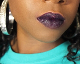 Dark Purple Full Coverage Highly Pigmented Lipstick Plum