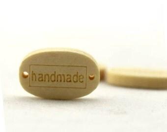 Handmade Supply - 6 PCS Wooden Bottons/ Handmade wooden bottons MK-16