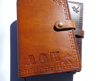 Personalized Leather Cover Journal A5 (9.5x6.5x1.25)  Size Embossed, Diary