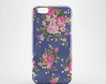 Antique Floral Blue Phone case,  iPhone X Case, iPhone 8 case,  iPhone 6s,  iPhone 7 Plus, IPhone SE, Galaxy S8 case, Phone cover, SS120a