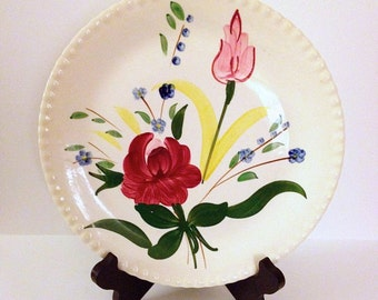 Bluebell Bouquet Dinner Plate Blue Ridge Southern Potteries