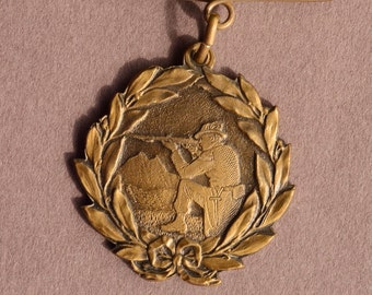 """Nice collector medal """"section contest"""" 1825-1920 of the vaudoise society of carabineers!"""