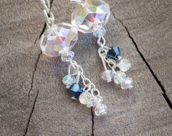 Something Borrowed Something Blue - Swarovski Crystal Earrings