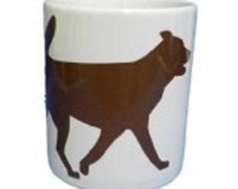 Brown Dog Silhouette Design Mug