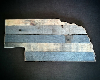Nebraska - Reclaimed Wood Cutout