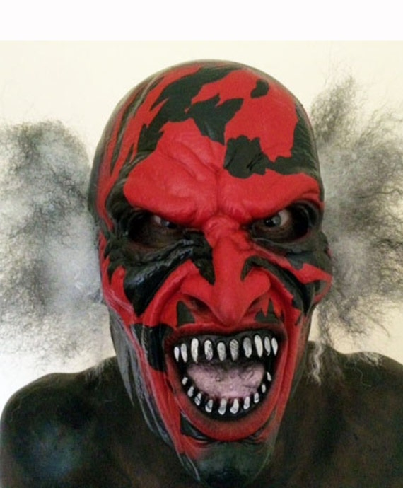 Insidious Man with Fire on his Face Demon Mask