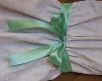 "New 3 yards Double Faced Mint Satin Ribbon 1-1/2"" wide, 1-1/2"" Mint Satin Sash"