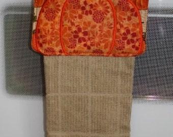 24 Hour Sale Price!   Pumpkin Towel Hanger Embroidery Machine Design for the 6x10 hoop