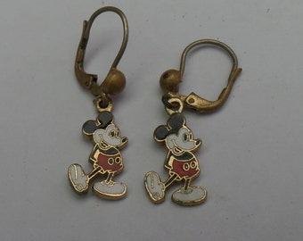 A Vintage Pair of Mickey Mouse Earrings Disney