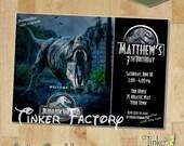 Jurassic World Birthday Party Invitation - Digital File - Printable - Dinosaurs