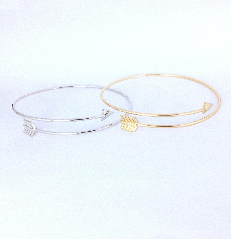 arrow bracelet adjustable braceletsimple by cpmarvelous on