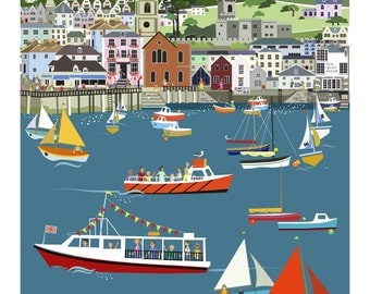 Fowey Harbour - Limited edition print