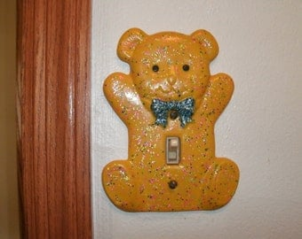 Bear light switch cover