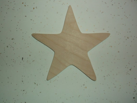 Unfinished Wooden Star Wood Stars Wood Star Shape Wood Star
