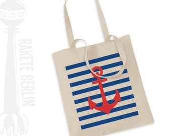 Tote Bag  'Anchor with stripes'