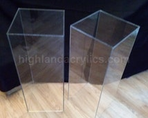 Acrylic Pedestal Stand Clear Lucite Furniture