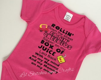 Baby Gin and Juice Onesie, Mind on my Mommy