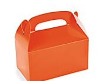 Orange favor box, orange gable box, party favor, candy box, - wedding favor, shower favor, birthday favor, sports favor, kid party favor