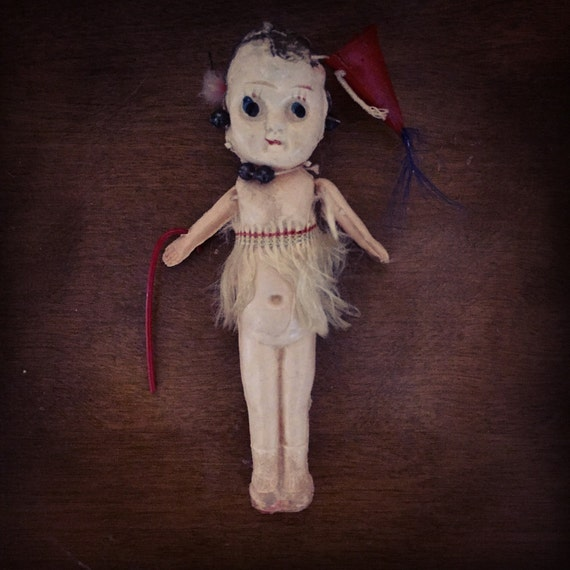 Creepy Vintage Celluloid Doll Made In Japan
