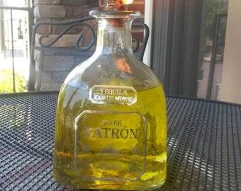 Patron Bottle Tequila Tiki Torch
