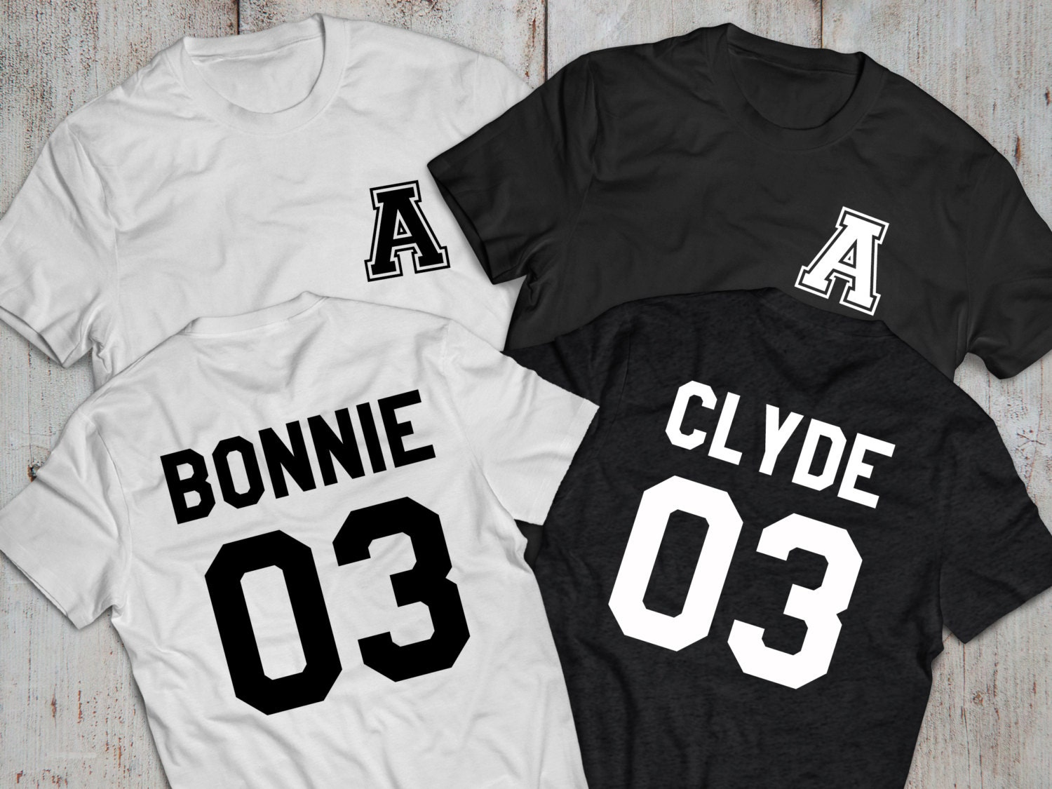 bonnie and clyde couples shirts with custom by epictees4you. Black Bedroom Furniture Sets. Home Design Ideas