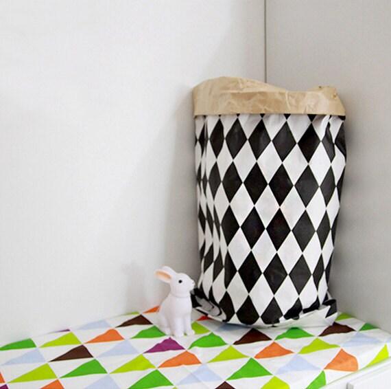 sac en papier kraft diamants papier sac rangement. Black Bedroom Furniture Sets. Home Design Ideas