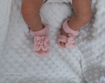 Baby girls knitted sandals 0/3 months