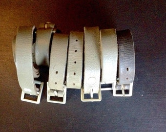 Set of (2) Swiss Army leather Straps