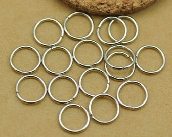 50 pc - 8mm Jump Rings / Open Jump rings Bracelet Charm Connector Jewelery Making Jewelry Findings